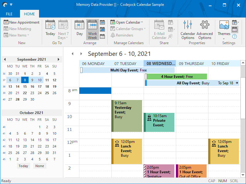 Calendar Examples | Codejock