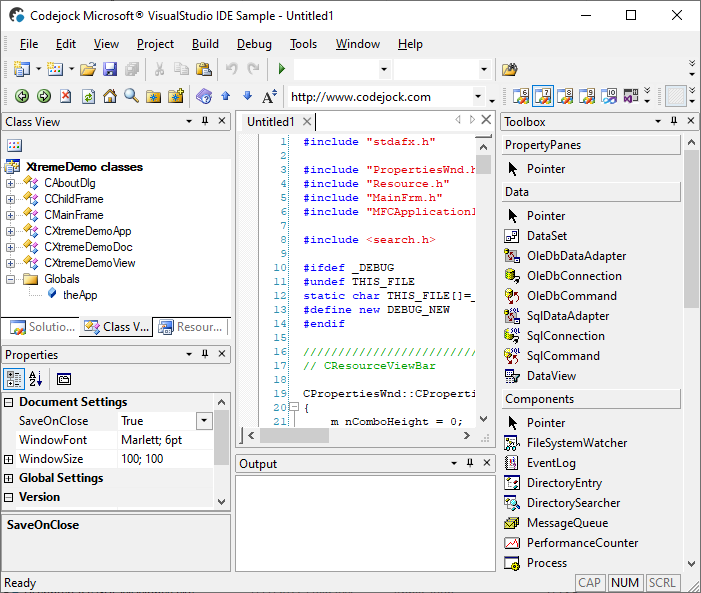 Visual Studio 2003 Theme Support