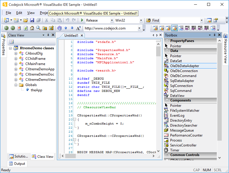 Visual Studio 2008 Theme Support
