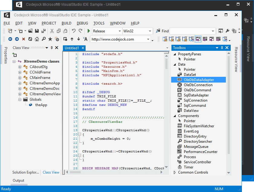 Visual Studio 2012 Theme Support