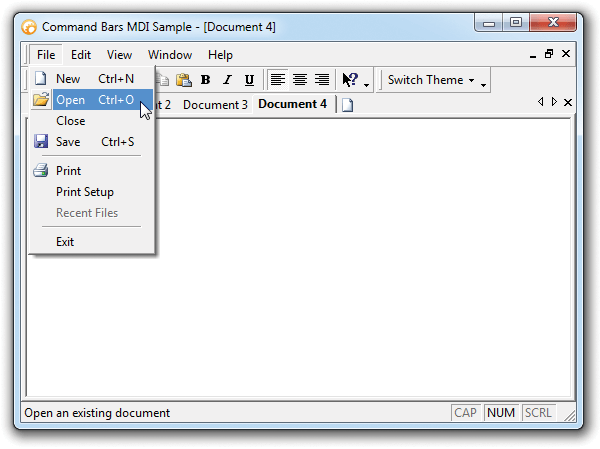 Office 2000 Theme Support