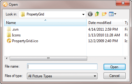 File Selection Dialog