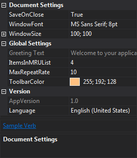 Dark theme example