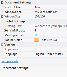 Light theme example
