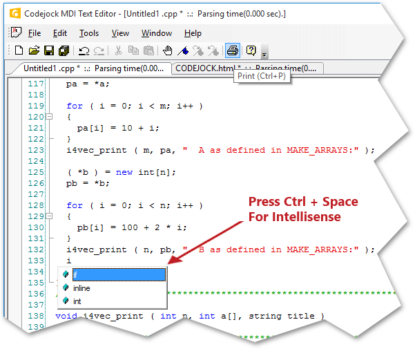 Intellisense Help