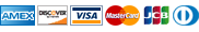 American Express, Discover, Visa, MasterCard, JCB, Diners Club
